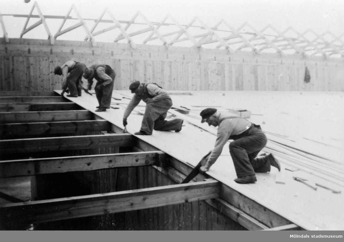 Albert Persson på bygge i Göteborg, 1940-talet.