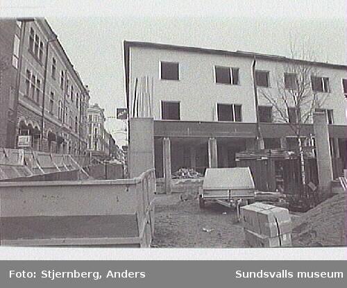 Kvarteret under ombyggnad.