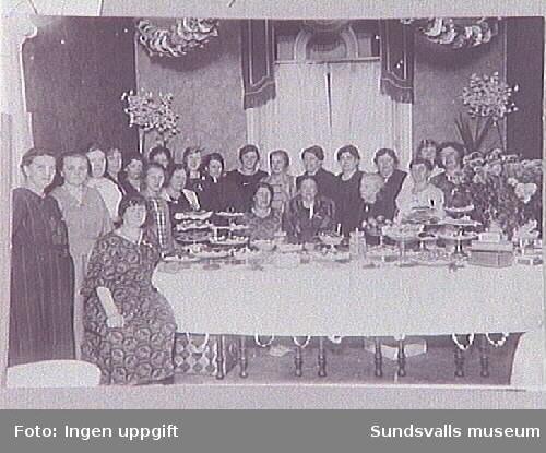 Medlemmar i Sundsvalls Martha-förening.