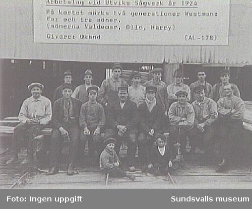 Alnö hembygdsförenings fotosamlingAL-178Med på bilden bl a pappa Westman samt sönerna Valdemar, Olle och Harry.