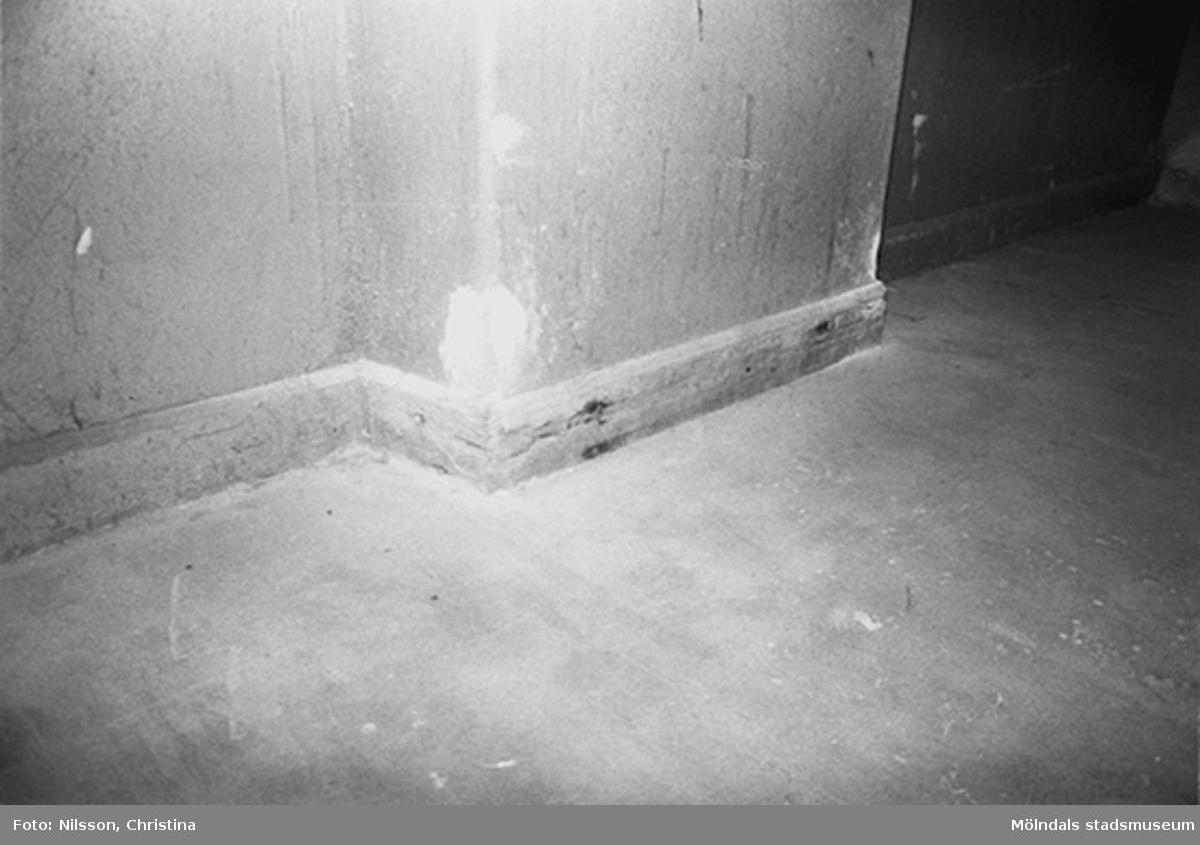 Byggnadsdetaljer: Golvlist, hösten 1994.