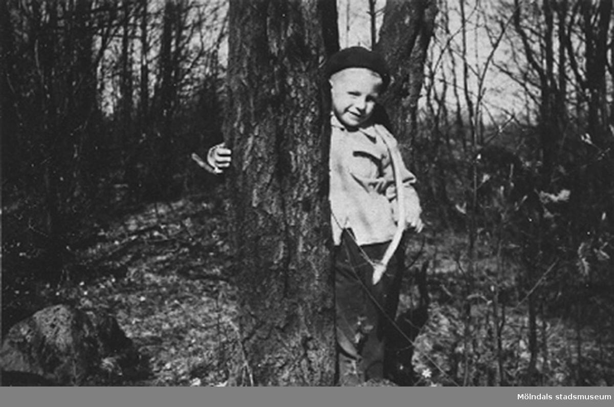 Ett barn på Krokslätts daghem, Dalhemsgatan 7 i Krokslätt 1948-1951.