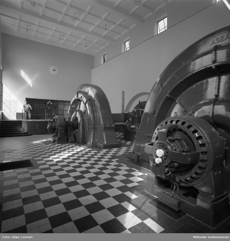 Ätrafors kraftstation, 25/7 1960. Interiör.