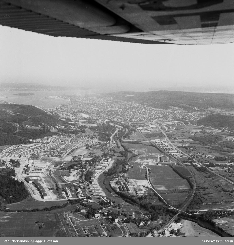 Flygfoton över Granlo, Högom och Högoms tegelbruk