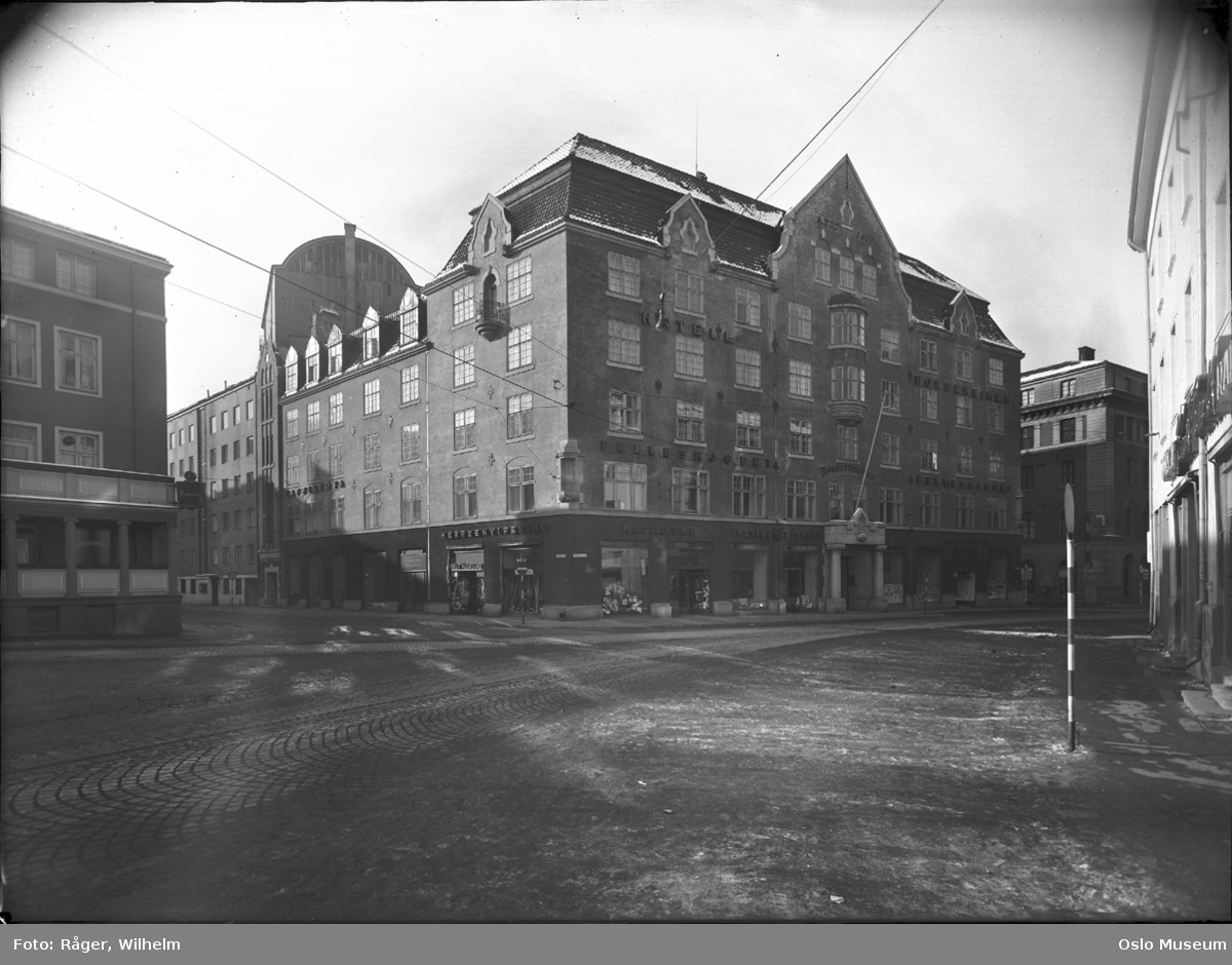 Bøndernes hus, hotell Bondeheimen, Oslo Nye Teater, scenetårn, restaurant Amalienborg, Forum