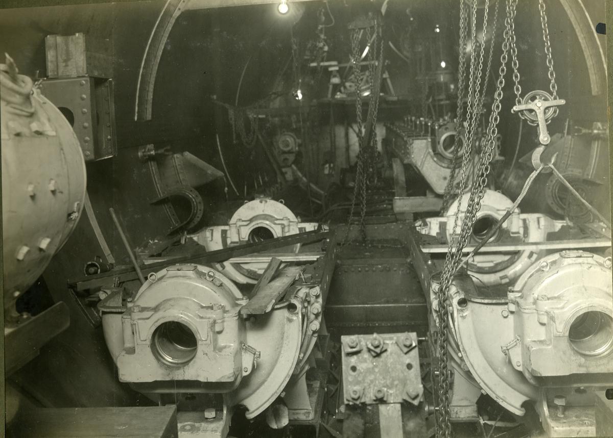 Fartyg: GRIPEN                          Byggår: 1926 Varv: Örlogsvarvet, Karlskrona Övrigt: Uvb Gripen under byggnad.