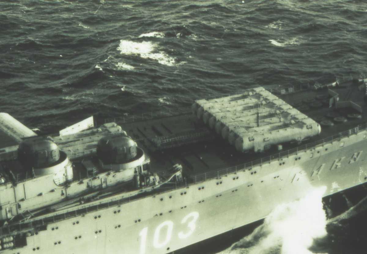 Russisk hangarskip av Modifisert Kiev - klassen som heter Admiral Gorshkov med nr. 103.