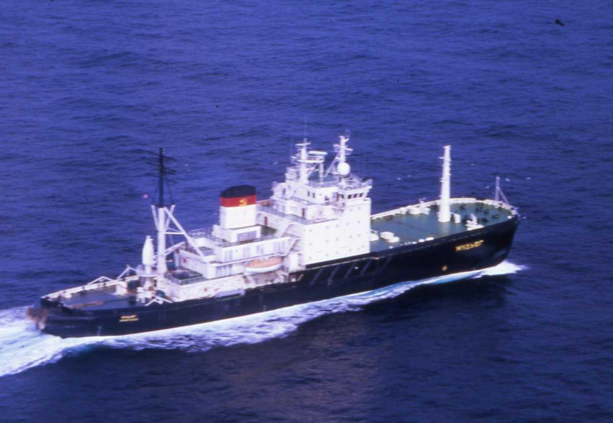 Russisk fartøy av Mudyug - klassen og heter Mudyug.