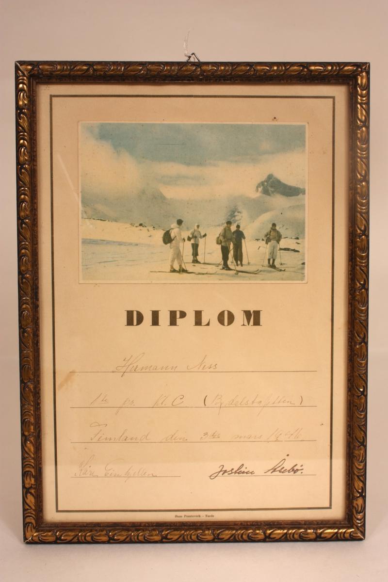personar i snølandskap