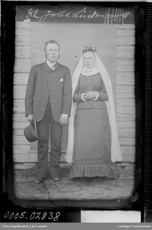 Portrett av et brudepar.