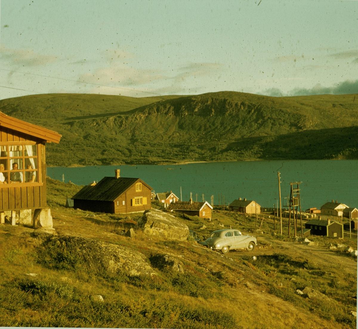 Fjelds hytte på Ustaoset. 1956 Hytta er bygd i 1915 av Skreddermester Chr.Pedersen.