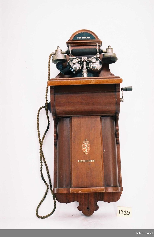 Ombygget til rikstelefon 1918 Gaffel modell 1898, modell 1906