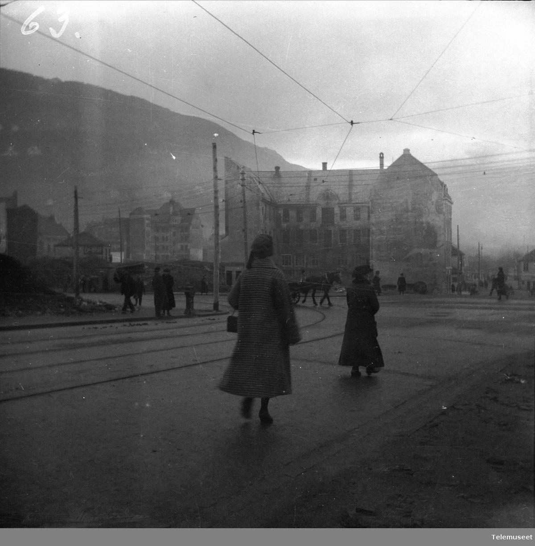 St.Markevei etter bybrannen, Bergen sentrum