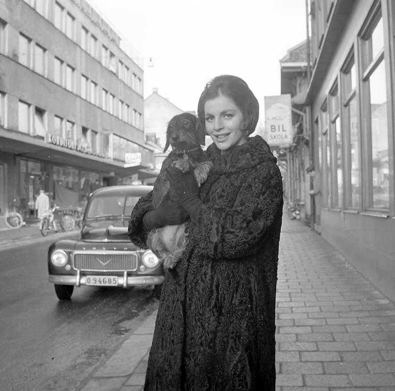 """Enligt notering: """"Hagge Geigert, Lissi Ahrland mf. på Carlia 13/1 1961""""."""