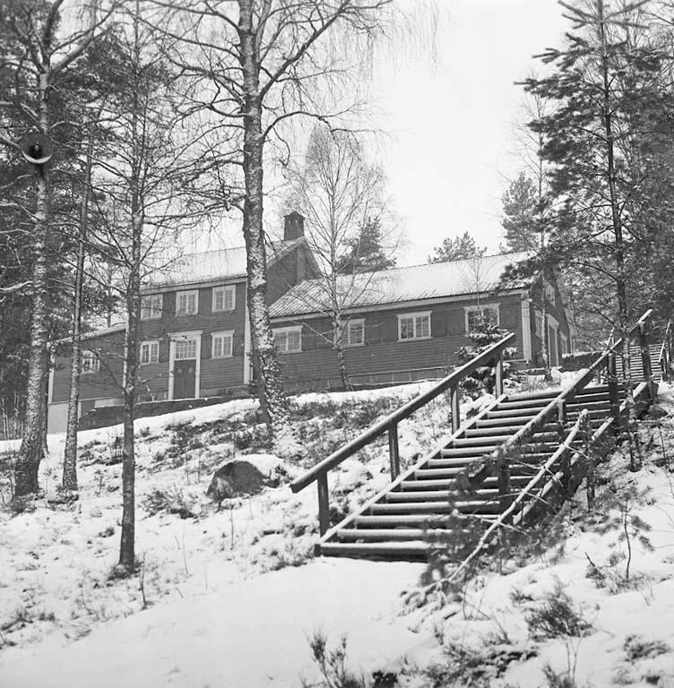 Sportstugen vid Bjursjön 1961