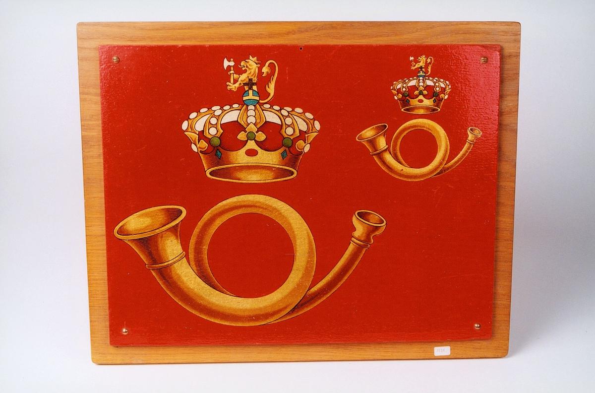 Denne versjonen av Postens logo er fremstilt etter tegning av arkitekt Henrik Bull i 1907.