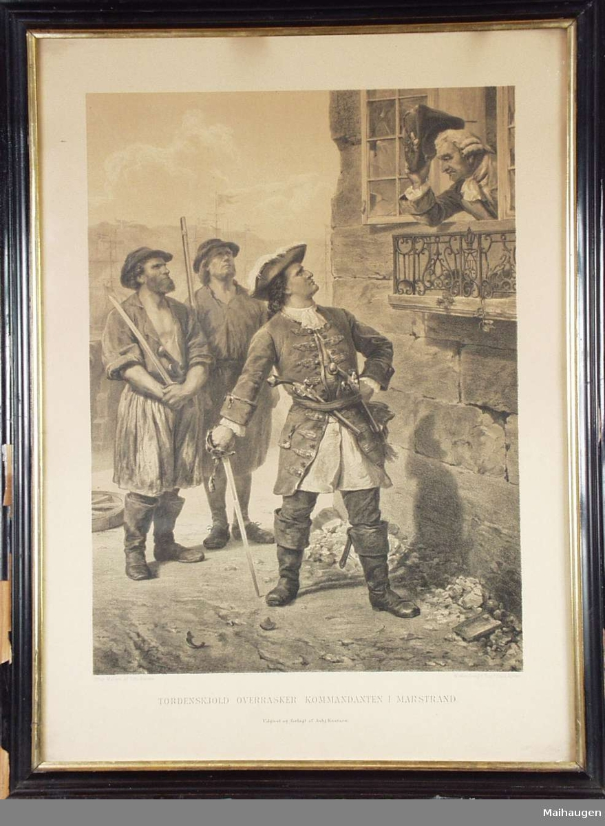Tordenskiold og tre andre menn.