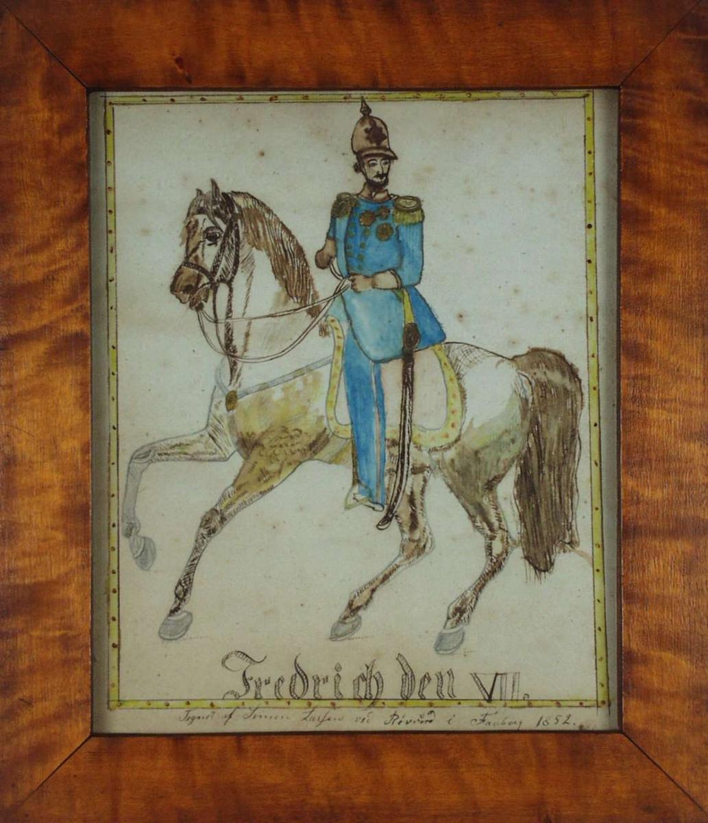 Fredrich den VII på en hest.