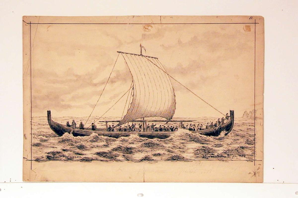 Skip som stevner mot land.