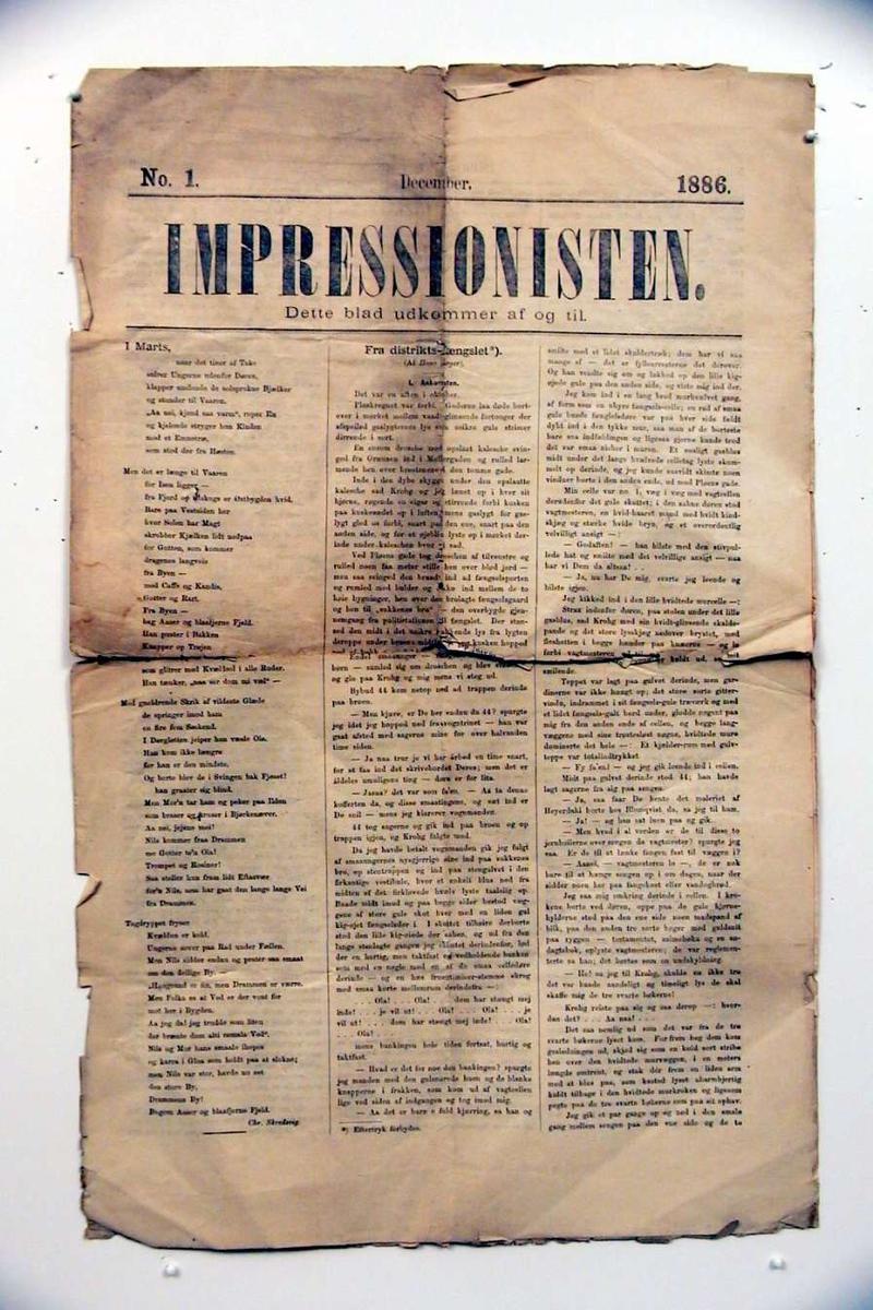 Blad/avis i kvartformat. Bladet har 4 sider.
