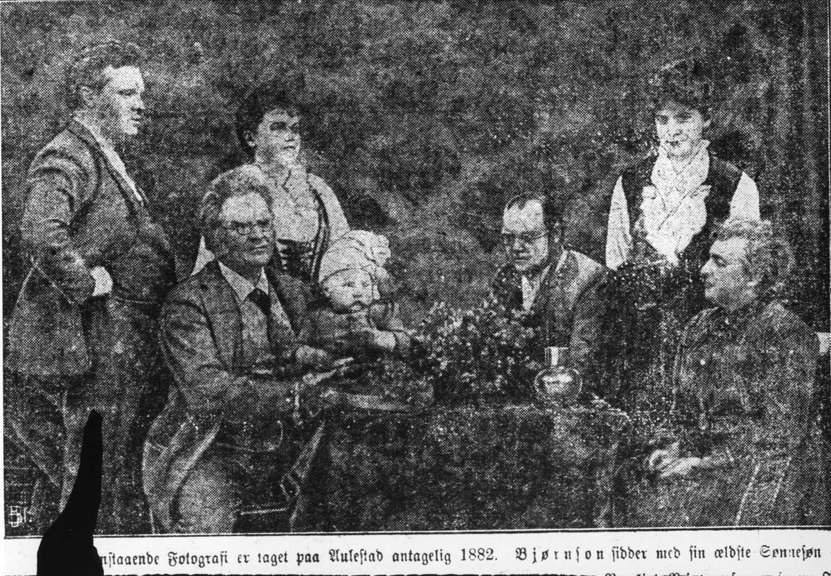 Familie, Bjørnson, avisutklipp, repro