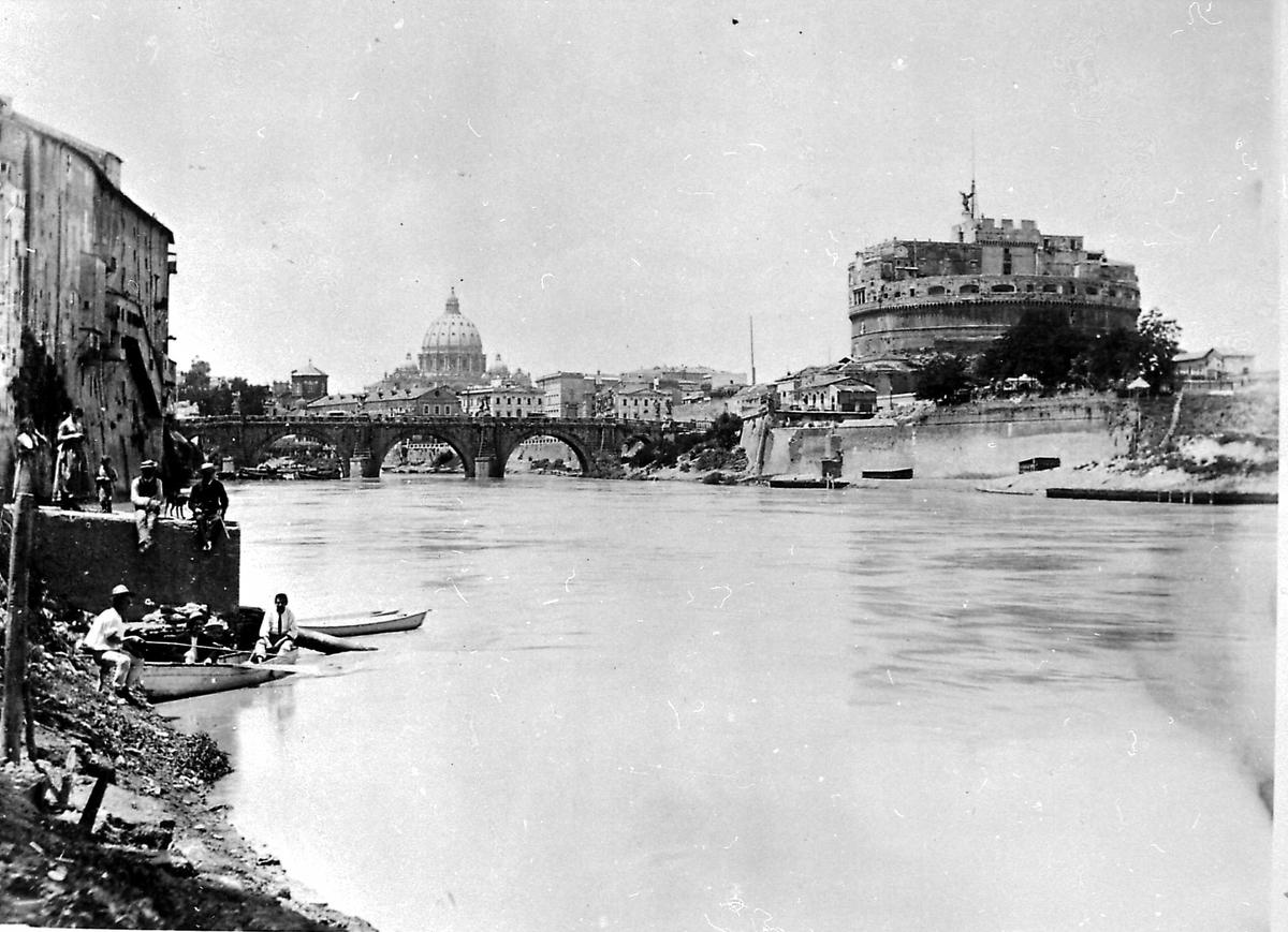 Roma, Tibern, St. Angelo-borgen, Italia,
