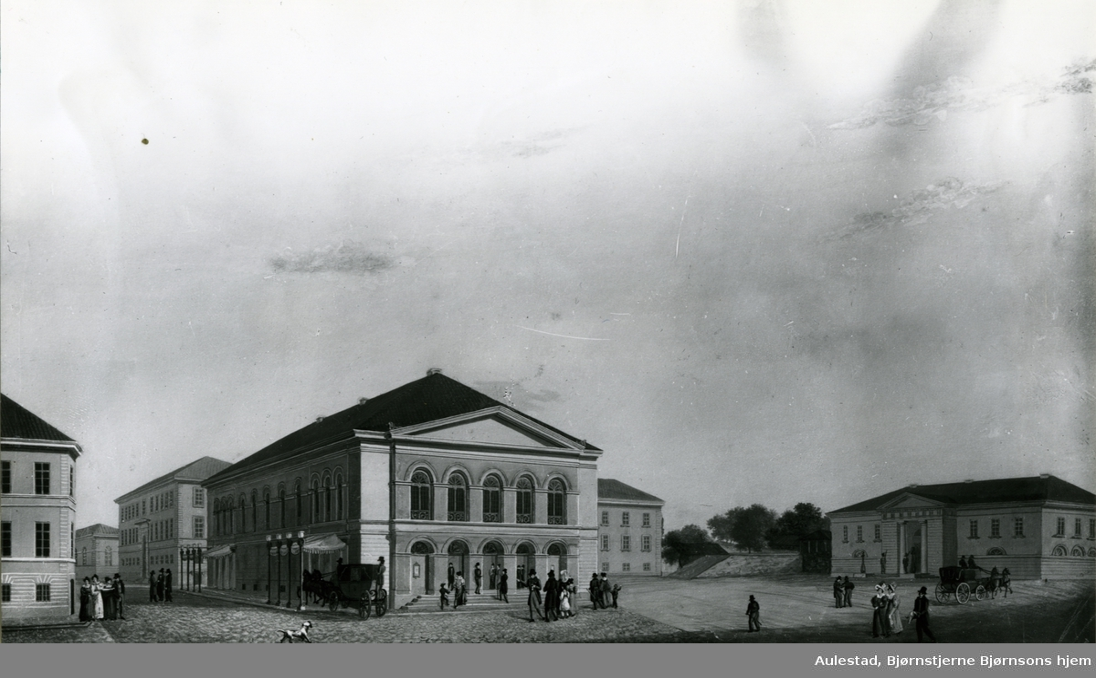 Christiania Theater, Bankplassen, maleri,