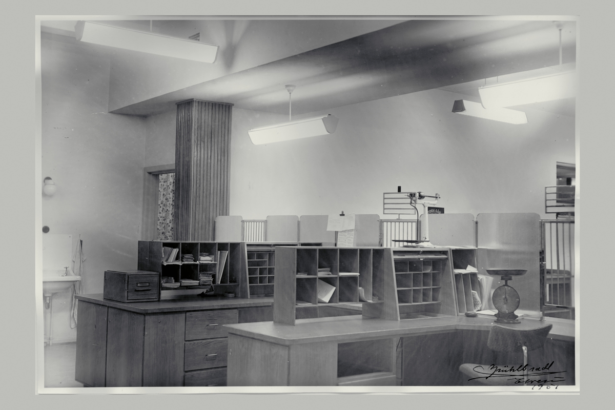 interiør, postkontor, 2400 Elverum, skranke, vekt