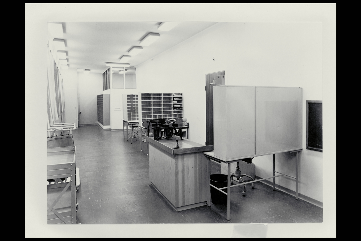 interiør, postkontor, 9950 Vardø, bud og pakningsavdeling