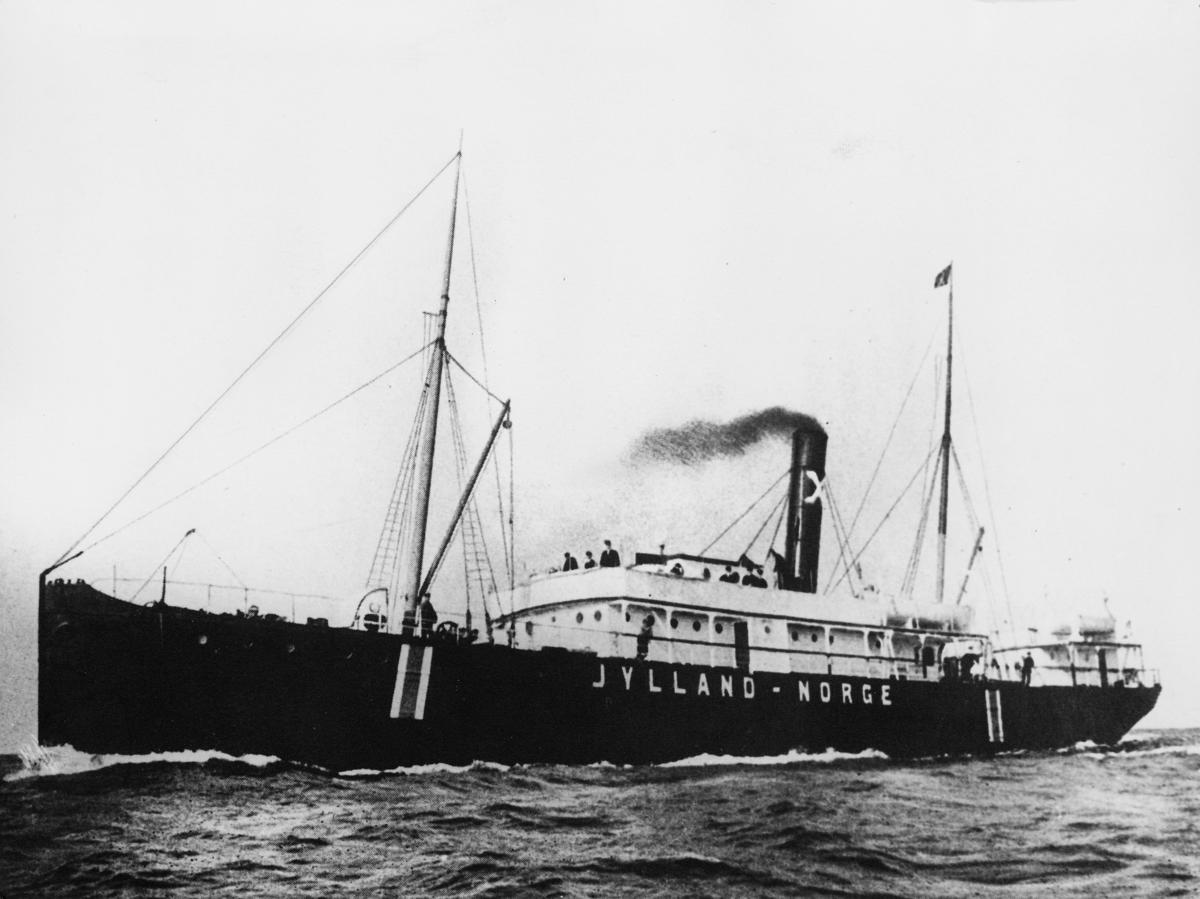 transport båt, eksteriør, D.S. Jylland, Kristiansand-Hirtshals