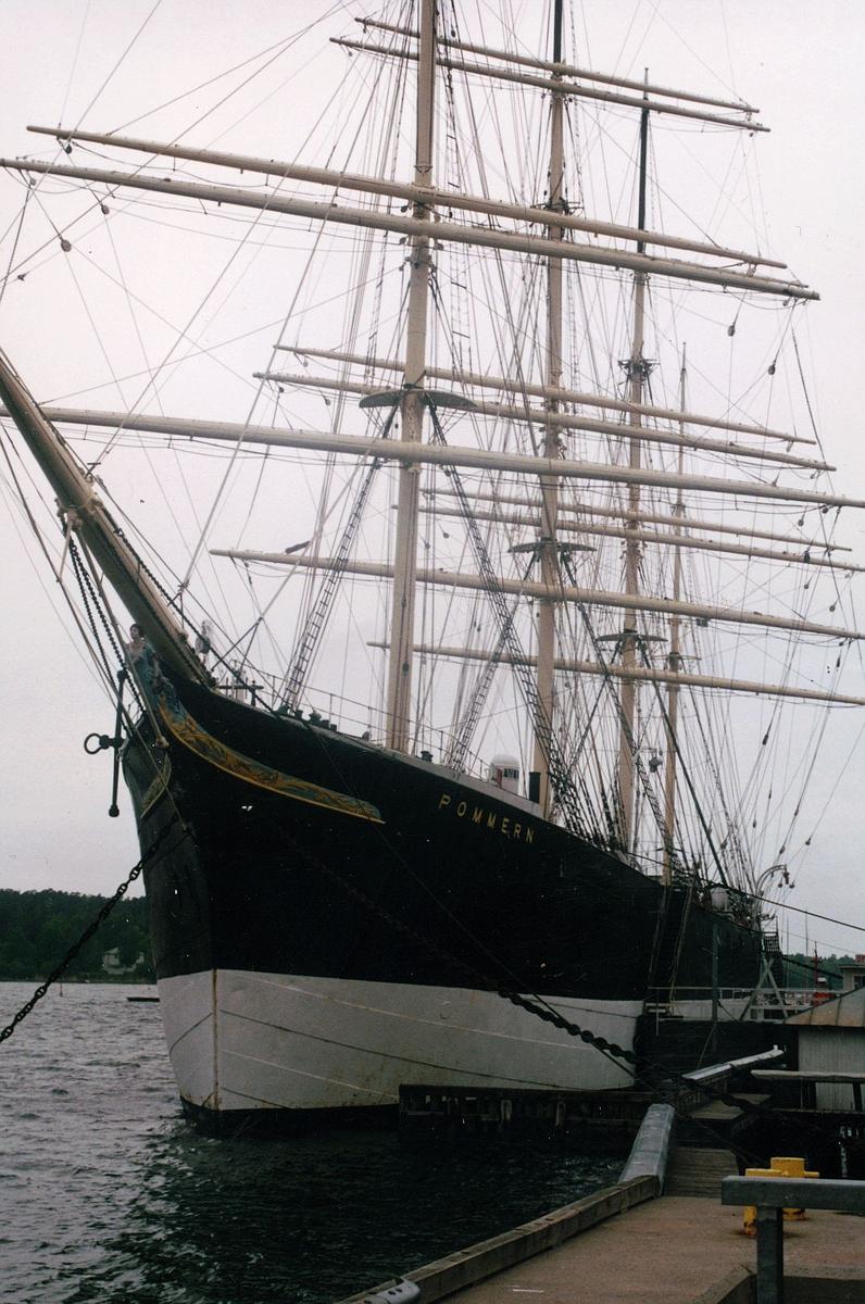 transport, båt, seilskute Pommern