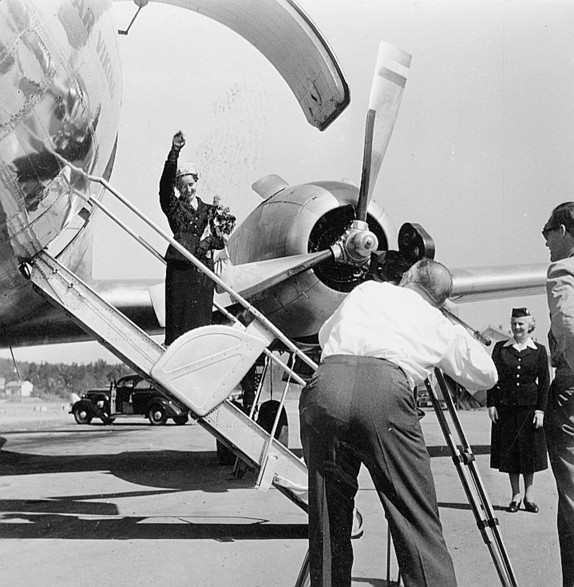 transport, fly, eksteriør, på bakken