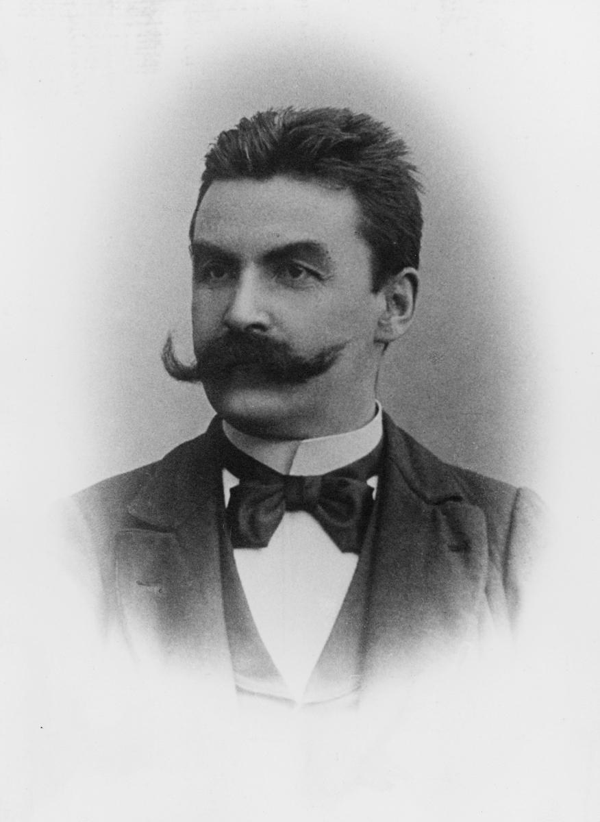 portrett, postmester, Albert Krantz Stabell Strømsted