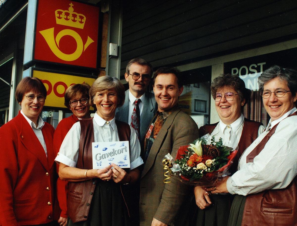 kampanjer, postkontor, Tønsberg, billettsalg, gruppebilde