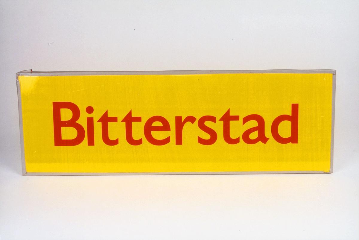 Postmuseet, gjenstander, skilt, stedskilt, stedsnavn, Bitterstad.