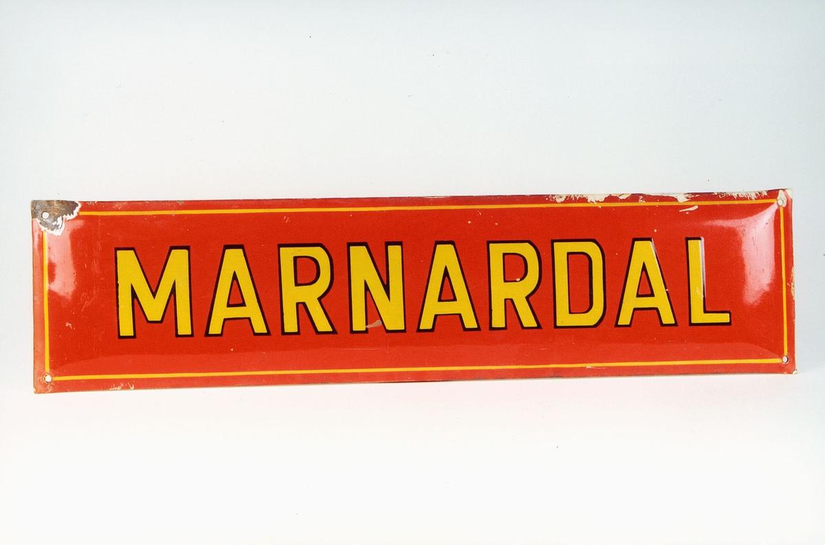 Postmuseet, gjenstander, skilt, stedskilt, stedsnavn, Marnardal.