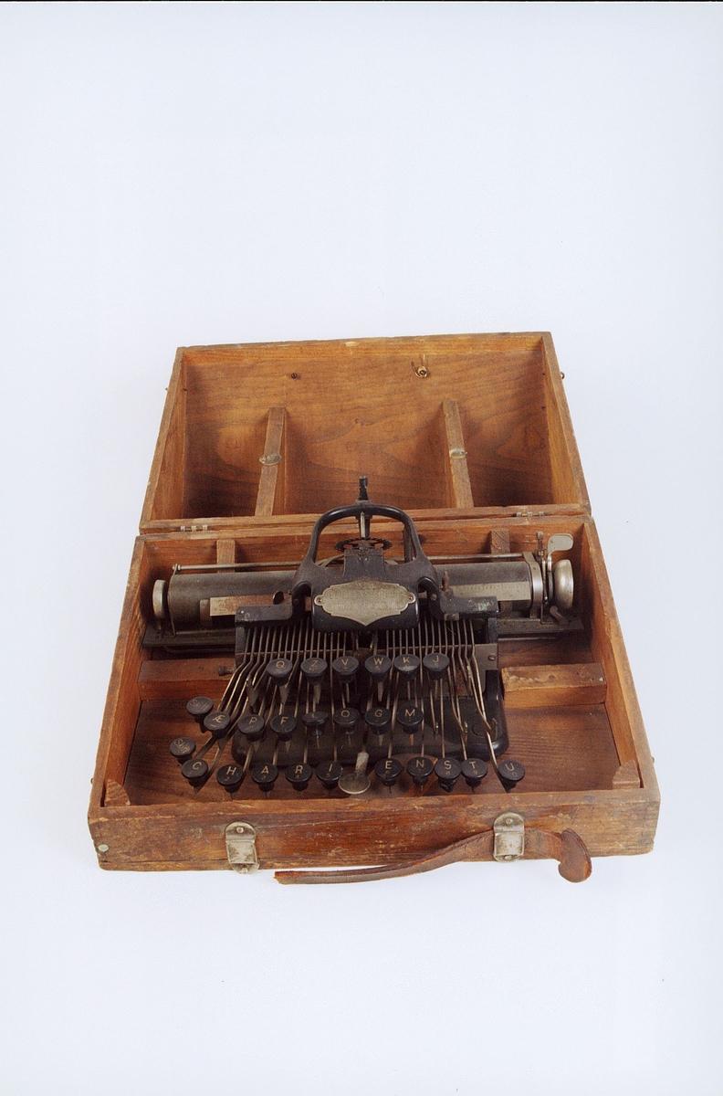 postmuseet, gjenstander, skrivemaskin, reiseskrivemaskin, No 5 Blickensderfer