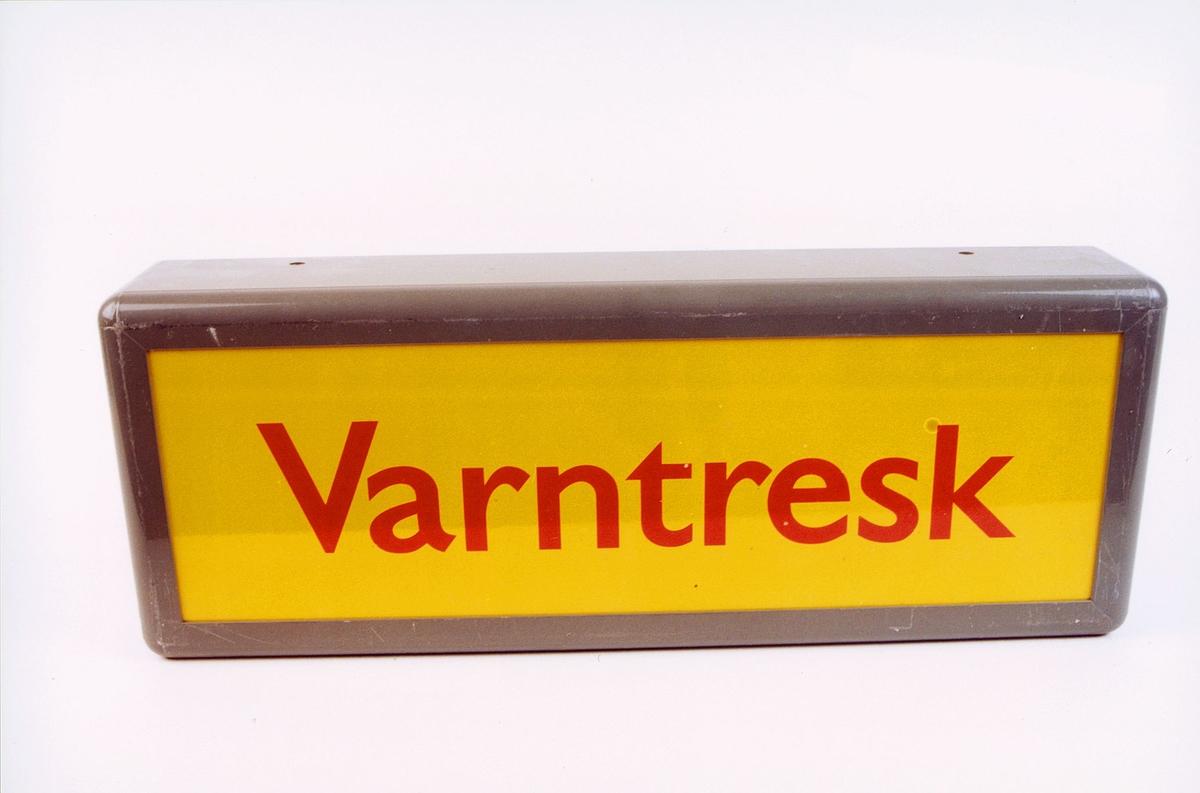 postmuseet, gjenstander, skilt, stedskilt, stedsnavn, Varntresk