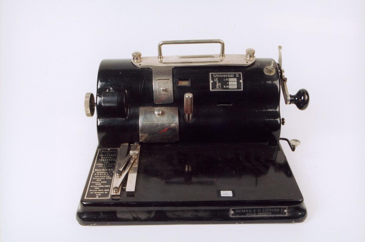 postmuseet, gjenstander, maskin, frankeringsmaskin, Universal 5