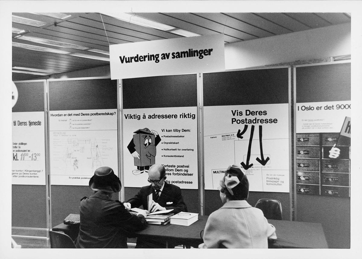 markedsseksjonen, Oslo postgård 50 år, utstilling, vurdering av samlinger