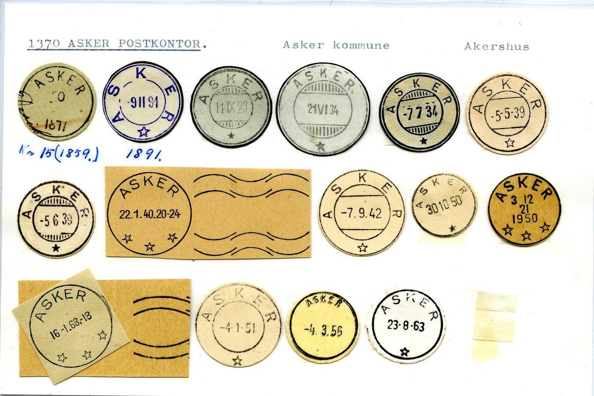 Stempelkatalog, 1370 Asker, Akershus