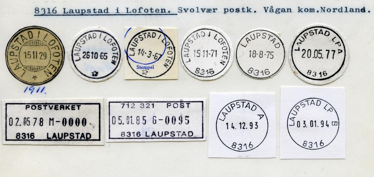 Stempelkatalog 8316 Laupstad i Lofoten, Svolvær, Vågan, Nordland