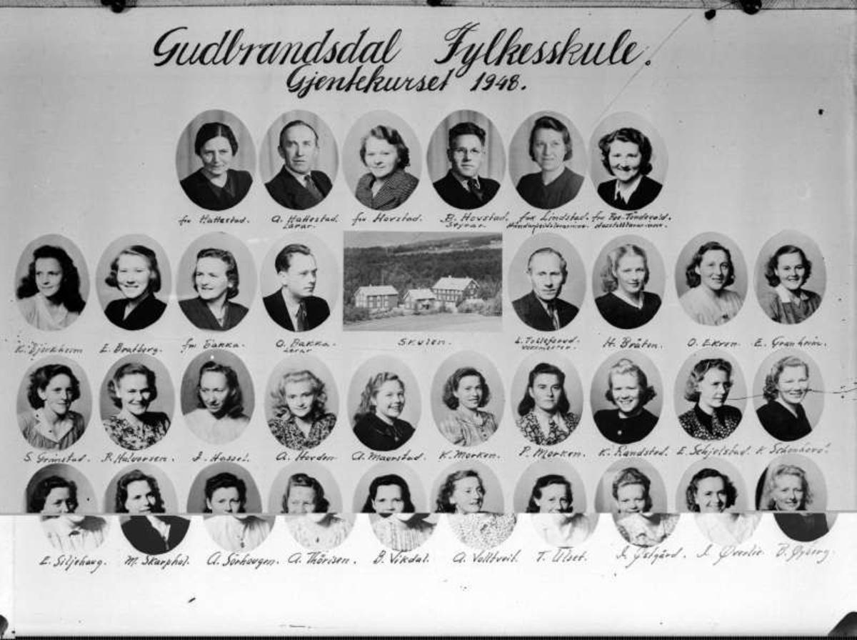Ringebu. Gudbrandsdal fylkesskule. Gjentekurset 1948