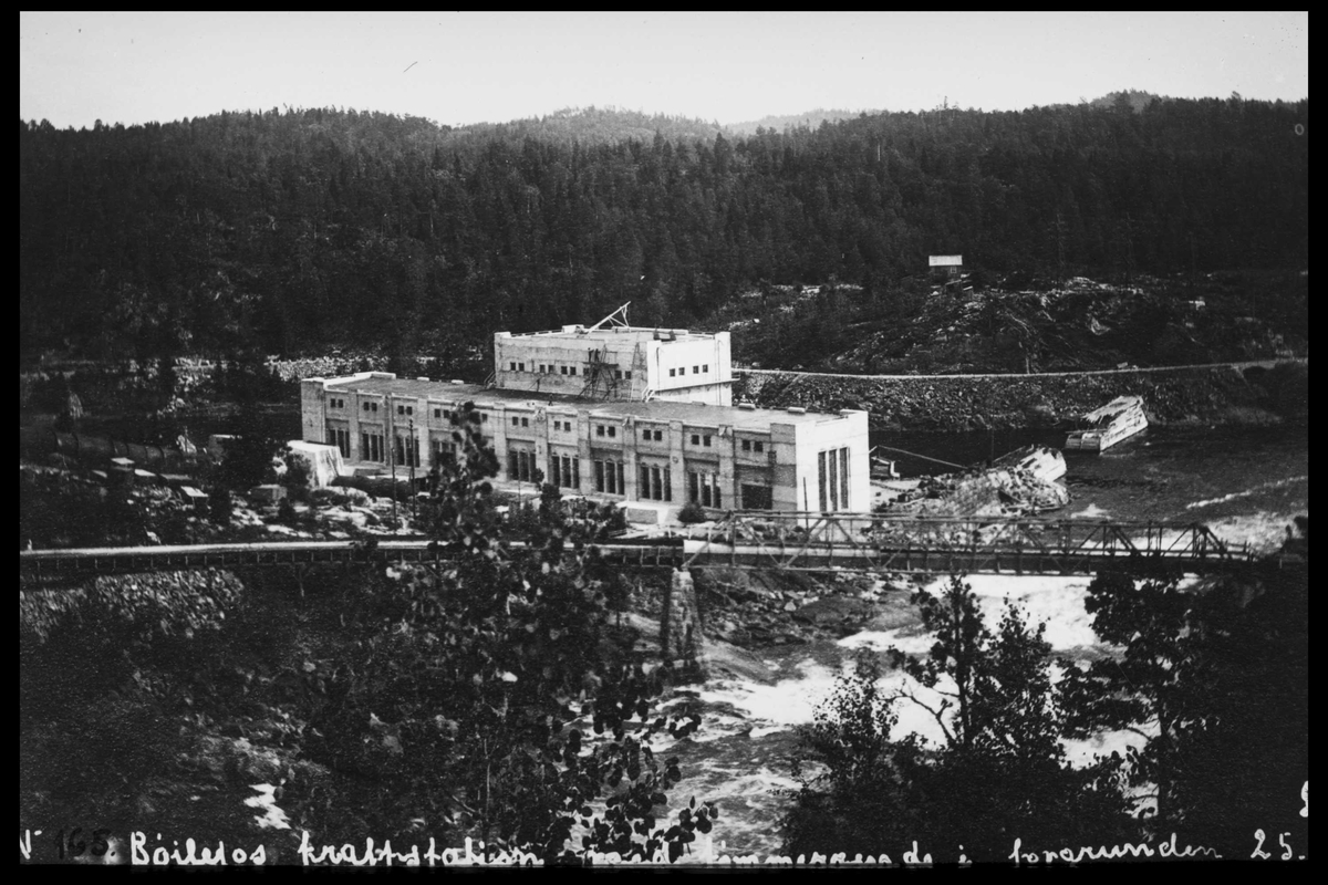 Arendal Fossekompani i begynnelsen av 1900-tallet CD merket 0469, Bilde: 43 Sted: Bøylefoss Beskrivelse: Fra tuneltaket