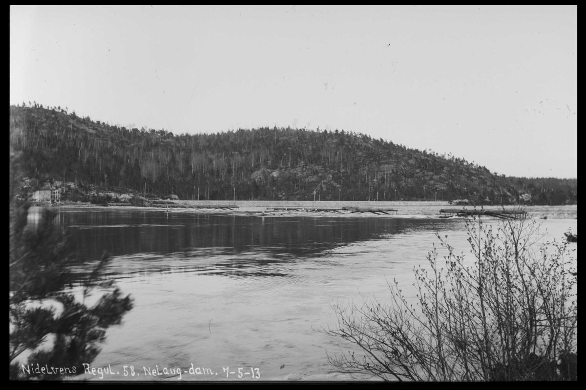 Arendal Fossekompani i begynnelsen av 1900-tallet CD merket 0474, Bilde: 76 Sted: Nelaug Beskrivelse: Damanlegget