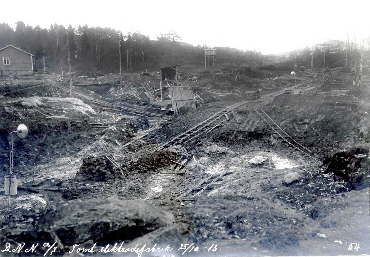 """""""25/10-1913"""" Nitriden. Planering tomt for elektrodefabrikken."""
