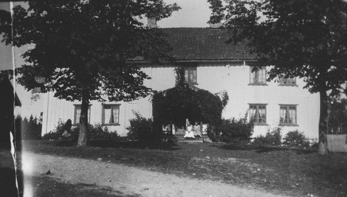 Ambjørnrud gård, Kråkstad. Hovedbygningen m/kastanjetrær.
