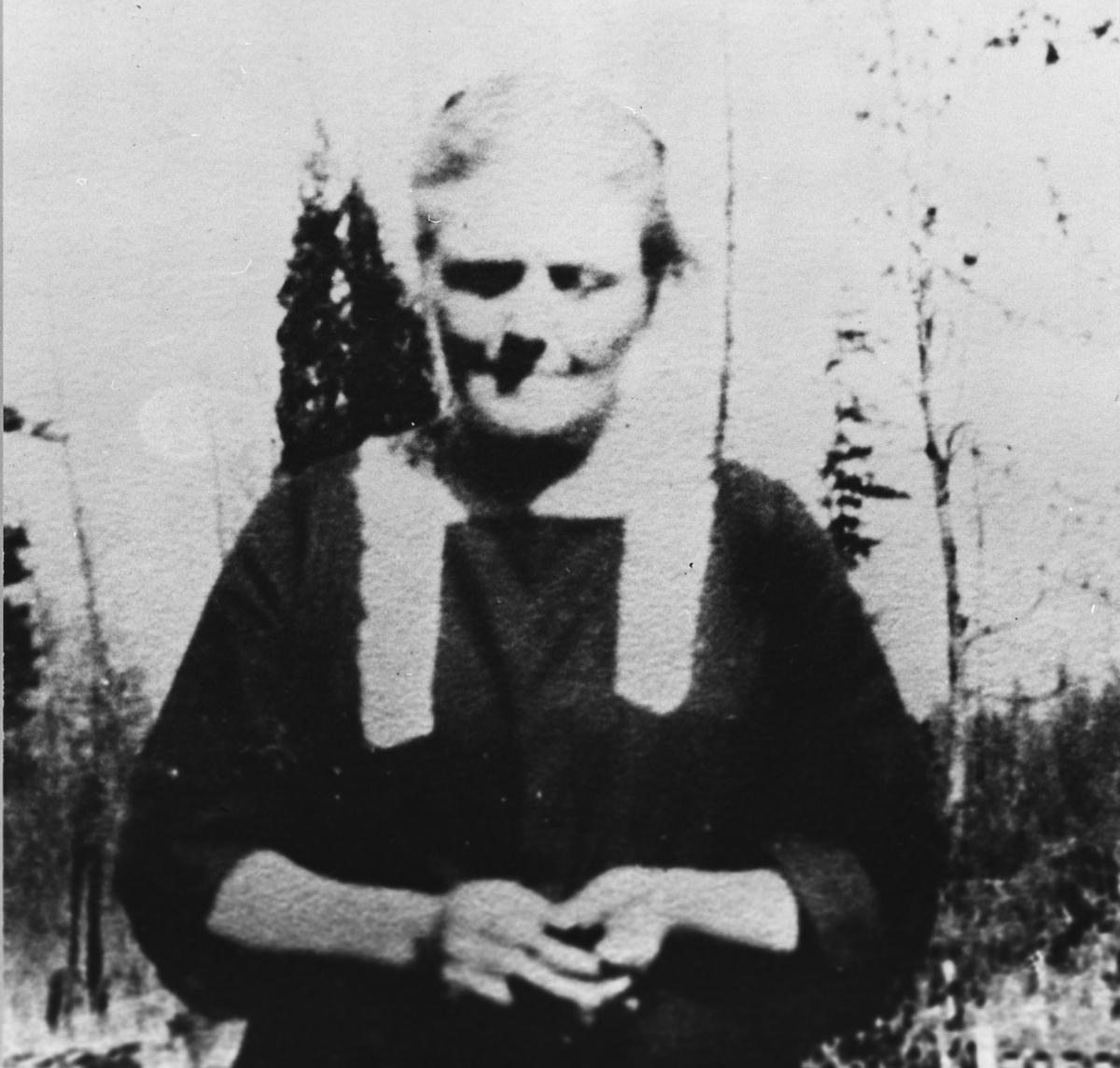 Brystbilde av Ovidia Johansdtr. Carlson f. Baarlid (1872-1933)