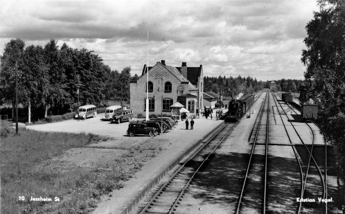 Jessheim stasjonsområde.