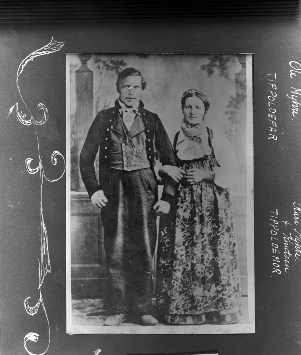 Portret av Tipoldeforeldrene til eier.